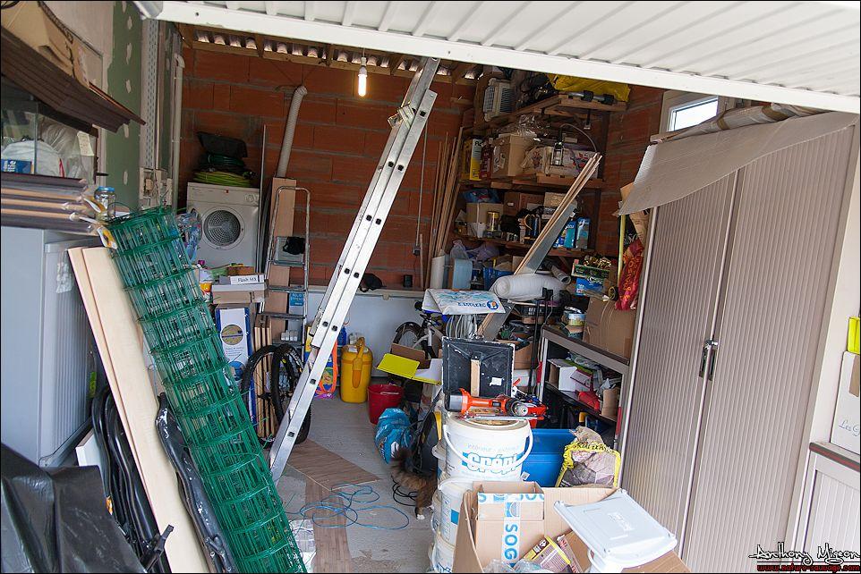 am nagement du garage en chambre d ami bureau buanderie. Black Bedroom Furniture Sets. Home Design Ideas