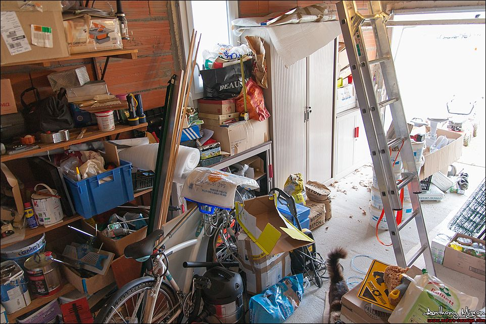 Am nagement du garage en chambre d ami bureau buanderie for Amenagement bureau chambre d amis