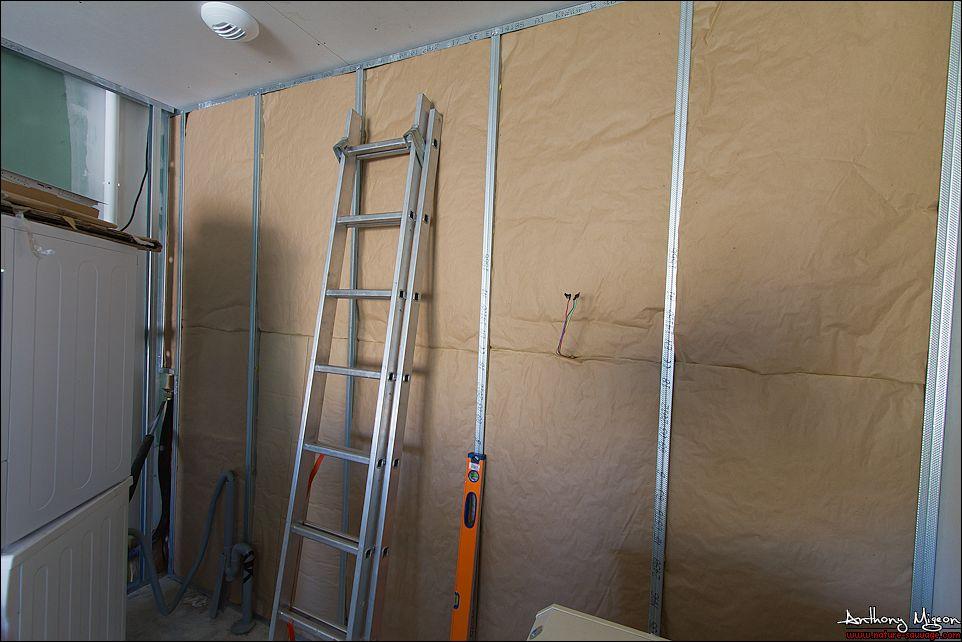 Aménagement Du Garage En Chambre Dami Bureau Buanderie - Baie vitrée volet roulant pour remplacer porte garage